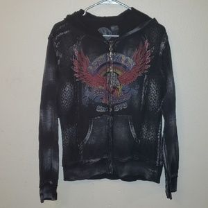 Large Affliction hoody lots of detail live fast
